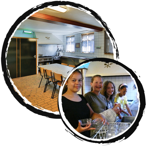 groepsaccommodatie - binnen keuken