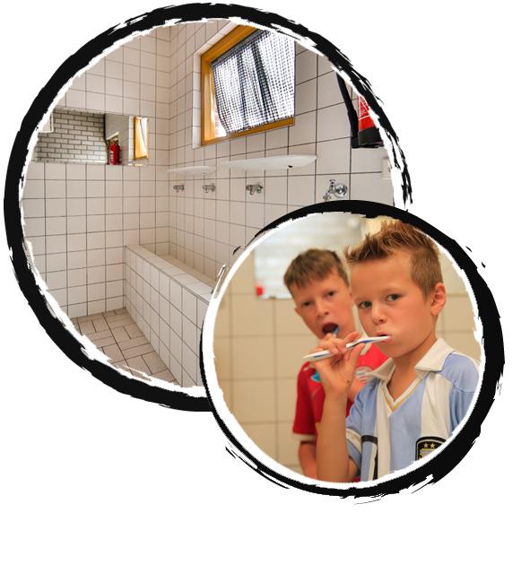 groepsaccommodatie - binnen sanitair