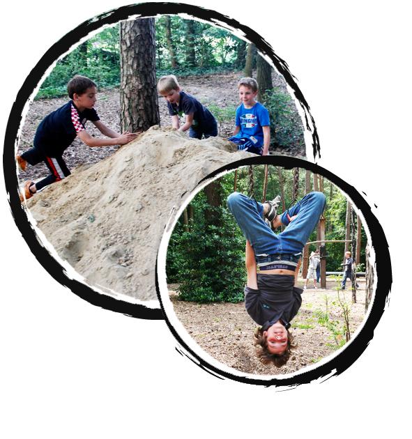 rond jeugdkamp - klimbos survivalbos